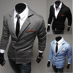 New Fashion Casual Slim Design Stylish Two-Button Suit Men Blazer Coat Jackets