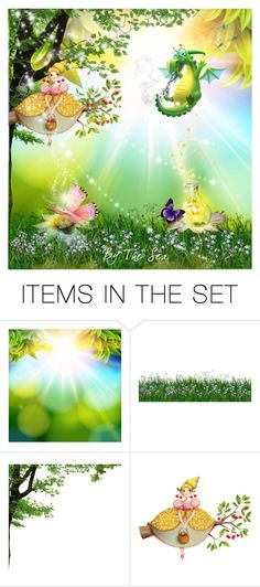 """Puff The Magic Dragon"" by qmaxine ❤ liked on Polyvore featuring art"