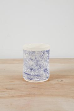 Blue Scratch Cup