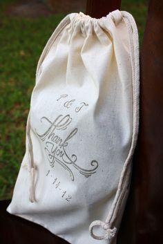 Wedding Favor Bags - Large - Flip Flop Bags  - Personalized. $4.25, via Etsy.