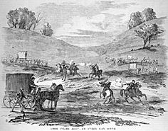 Bushrangers - Hall, Gilbert and Dunn sticking up the mail at Black Springs, Illustrated Melbourne Post Warren Brown, Australian Icons, National Treasure, Investigations, Ranger, Past, Scene, In This Moment, History