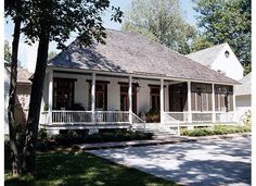 Acadian house - Want this front porch!