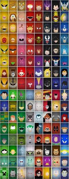 Superhero/Supervillian Color Palette