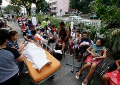 The powerful quake, which killed dozens, damaged major buildings in Cebu City, a heavily populated commercial center. Commercial Center, Cebu City, Ny Times, Philippines, Baby Strollers, Children, Baby Prams, Boys, Cebu