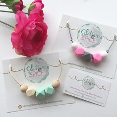 Our new necklace cards and business cards arrive! Hooray!!! We are so thankful to be evolving as we grow. It wouldn't be happening without our amazing customers. So THANK YOU!  #glitterandspice #teethingjewelry #teethingnecklace #teethingbracelet