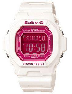Montre Casio Baby-G couleur blanc et rose. La petite soeur de la G-Shock pour femme et enfant.