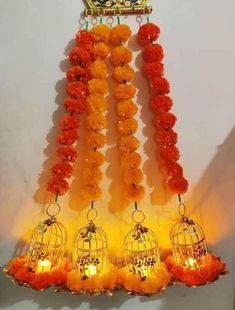 [New] The 10 Best Home Decor (with Pictures) - Pom pom hangings to your hearts desire. Add the element of colors and festivities in any occasion. Diwali Decorations At Home, Ganpati Decoration At Home, Festival Decorations, Flower Decorations, Wedding Decorations, Diwali Diy, Diwali Craft, Decor Crafts, Diy And Crafts