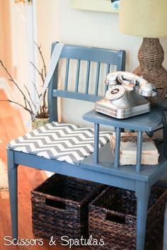 Refinish the gossip chair. This is cute, gotta find one of these.