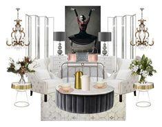 """Diana"" by madamoformitel on Polyvore featuring interior, interiors, interior design, home, home decor, interior decorating, Bashian, Eichholtz, Bungalow 5 and Ralph Lauren Home"