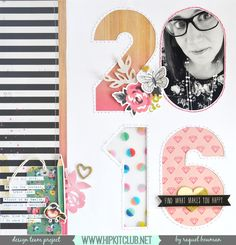 Cut.Paste.Repeat - Raquel Bowman: 2016 - Resolutions and Goal using Crate Papers Shine collection and the Dec Hip Kits