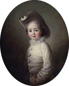 1763, Francois-Hubert Drouais Marie-Jean Herault de Sechelles at Age Four 1763