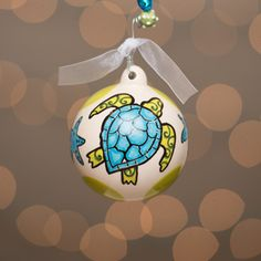 Glory Haus Sea Turtle Christmas Ornament | underthecarolinamoon.com #SeaTurtle #TurtleOrnament #GH #GloryHaus #UTCM #UnderTheCarolinaMoon