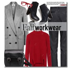 Fall Work Wear by beebeely-look on Polyvore featuring polyvore, fashion, style, Topshop, Gucci, Montegrappa, Tory Burch, clothing, WorkWear and officestyle