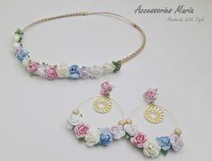 Accessories Maria  #earrings #flowers #roses #handmade #AccessoriesMaria