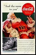 1939 Coke Santa Haddon Sundblom art Coca Cola Christmas vintage print ad
