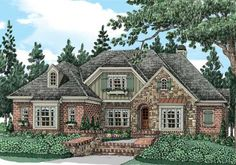 Glenmore (c) - Home Plans and House Plans by Frank Betz Associates