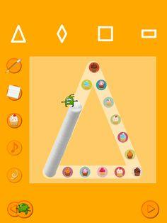 "Shapes Touch and Write App-fun, new iPad app for writing and learning shapes with creative ""utensils"" instead of a pencil! From OT's with Apps. Pinned by SOS Inc."