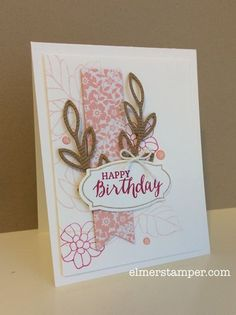 LOVE THIS!!!  Such a soft and romantic birthday card featuring Rose Wonder from the 2016 Occasions Catalog by Stampin' Up! #stampinup #imbringingbirthdaysback