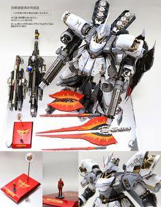 "MG 1/100 ""Snow"" Sazabi Ver.Ka + Quad Gatling Gun Custom Build - Gundam Kits Collection News and Reviews"