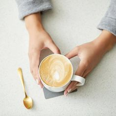 Perfection in the palm of your hands 😍 What coffee are you starting your week with? We hope there's some almond milk in there 😉 📷 Almond Milk Coffee, Latte, Palm, Hands, Photo And Video, Tableware, Instagram, Food, Dinnerware