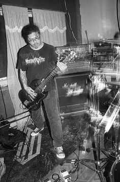 """Squalor live @ Bar l'Absynthe, Montréal, 12/05/2012. Black and white film photography by François Carl Duguay. Order a 16"""" x 20"""" silverprint over at www.laligneaharde.com"""