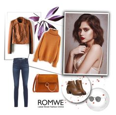"""""""Romwe 6/VII"""" by nermina-okanovic ❤ liked on Polyvore featuring AG Adriano Goldschmied, Ray-Ban and romwe"""