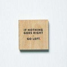 "Bild ""Go left"" // print by navucko via DaWanda.com"