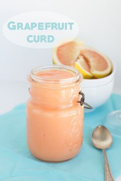 Sweet and tangy grapefruit curd. It's gorgeous and tastes great on anything. It's the season to get sweet, juicy grapefruit, so don't miss out.