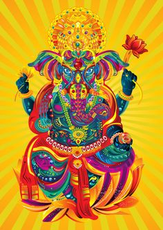 Devotion to Ganesha  by FLY DESIGN STUDIO , via Behance