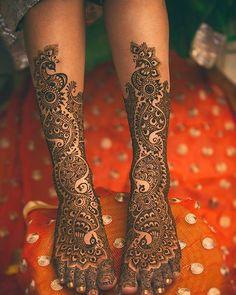 Beautiful mehndi design...Captured by @shutterink.in #bigindianwedding…