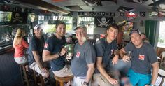 At the end of my intermediate course students have had to put up with me for about 38 hours.  That will drive anyone to drink.  This is my favorite part of the course cold beer at the world famous #piratebar #coldbeer #freediving #spearfishing