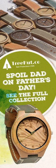 For Father's Day! Handcrafted in San Francisco. Nature-inspired designs that make the perfect gift for your special ones! See the full collection at Treehut Co.