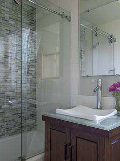Glass Tub Doors Design Ideas, Pictures, Remodel, and Decor - page 5. Inner  Richmond 1916 Edwardian bathroom ...