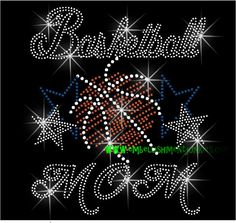 Rhinestone transfer- Basketball mom - DIY 12-140. $12.20, via Etsy.