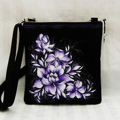 crossbody-fialové květy Bags, Handbags, Bag, Totes, Hand Bags