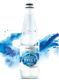 Watercolor beverages by Oleg V. Grinko, via Behance