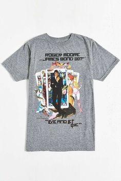 James Bond Live And Let Die Tarot Tee - Urban Outfitters
