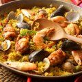 Spain's most famous dish is a yummy concoction of rice, vegetables, beans, seafood and spices such as saffron. This easy seafood paella recipe will allow even the most inexperienced chef to produce an exciting and mouth-watering dinner. Fish Recipes, Seafood Recipes, Mexican Food Recipes, Cooking Recipes, Dinner Recipes, Fish Dishes, Seafood Dishes, Easy Spanish Recipes, Spanish Dishes