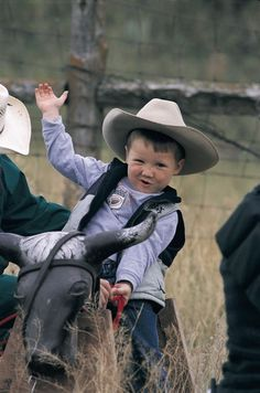 little boy learning the Cowboy Culture