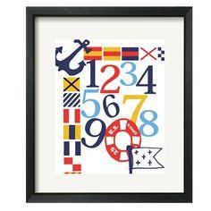 A nautical themed alphabet print on the area fare blog