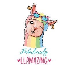 Fabulously Llamazing How are you today? I feel Fabulously Llamazing! Cute Illustration, Watercolor Illustration, Alpacas, Llamas Animal, Book Of Mormon Musical, Day Of The Shirt, 3d Chalk Art, Llama Alpaca, All Things Cute