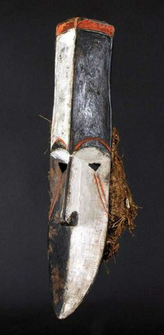 Africa | Ada Afikpo (Igbo subgroup) mask from Nigeria | Wood, pigment and fiber    ||| Source; http://issuu.com/dandrieuafricanart/docs/couleurs_2010