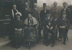 Mrs Shaw in later life with the Bethesda Committee, c.1920, Behind every great man...