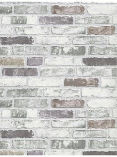 White Grey Brick Wallpaper