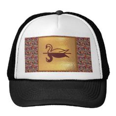 Golden SWAN -  Happy Holidays Decorations Trucker Hat