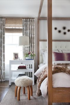 Although we're big fans of embracing color in the new year, we love how Erin used a neutral palette to create a calm and soothing space that still has plenty going on. A luxurious mix of patterns and textures completely transformed this bedroom — taking it from shabby to chic.