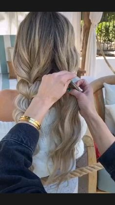 Easy Hairstyles For Long Hair, Pretty Hairstyles, Cute Blonde Hairstyles, Work Hairstyles, Hairdos, Summer Hairstyles, Updos, Braided Hairstyles, Bb Beauty