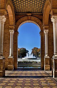 Sevilla Fuente de la Paza de España