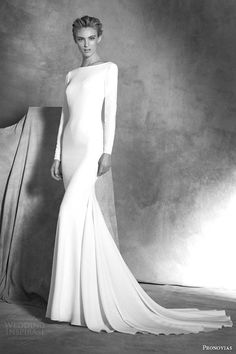 Wedding Gown atelier pronovias bridal 2016 ivania long sleeve crepe mermaid wedding dress cuff buttons - In part 2 of our top 100 wedding dresses of we highlight bridal gowns with slim fitting silhouettes — i. Popular Wedding Dresses, 2016 Wedding Dresses, Bridal Dresses, Wedding Gowns, Dresses 2016, Party Dresses, Dresses Dresses, Occasion Dresses, Sleeve Dresses