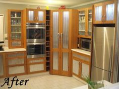 Award Winning Kitchen, Baby Corrugate and Recycled Oregon French Door Refrigerator, French Doors, Oregon, Recycling, Kitchen Appliances, Projects, Baby, Home, Diy Kitchen Appliances